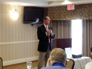 Andrew McConnell, with Hospice Care of South Carolina spoke at Beaufort Networking on Thursday, August 7 at the Beaufort Hilton Garden Inn about hospice care.