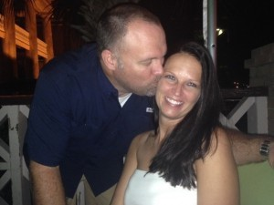 Eric and April Ackerman enjoy a summer night away from the kids.