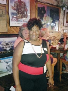 Inez Miller won a gift certificate from the downtown gift store The Craftseller.