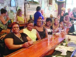 This group of ladies visiting from New Jersey was excited to be at Luther's Rare & Well Done and take part in Island Girls Night Out, a monthly event sponsored by The Island News that was held at the downtown bar and restaurant on Wednesday, August 13.
