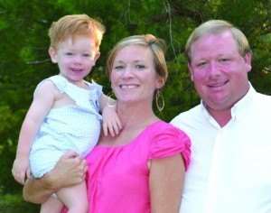 The Mitchell Family, from left: Parker, Abby and Patrick.