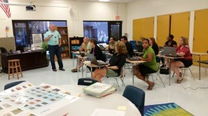 """LIMS teachers attend """"Cougar Institute"""" before school started."""