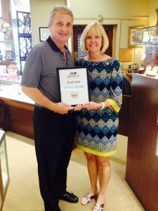 Each week, the Beaufort Regional Chamber of Commerce chooses a chamber business and surprises them with lunch courtesy of Sonic. The Business of the Week is Bay Street Jewelers, with owners Mark and Terri Stokes.