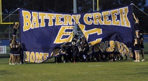 The Battery Creek Dolphins take to the field Friday night at Dolphin Stadium.