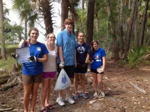 Several members of the Battery Creek High School Interact Club spent last Saturday morning at Hunting Island State Park to help with its semi-annual Beach Sweep. Pictured above are Jayde Little, Krystyn Kibler, Ian Klauck, Taylor Jones, and Cassi Knoppel.