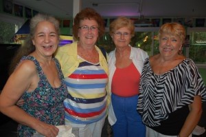 These friends came as a group and had a lot of fun. From left: LouAnn Spada, Martha Ala, Rita Hunt and Tina Peterson.