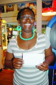 Inez Smalls won a gift certificate from Cookie Lee Jewelry.