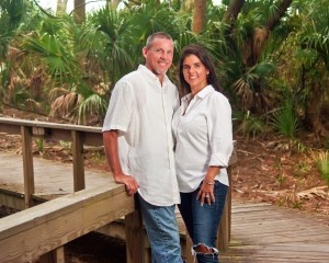 Bubba and Nikki Hardison at Hunting Island State Park.  Photo by Captured Moments Photography.