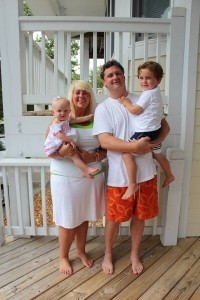 The Wareham family: Ginger holding Cecila, 1, and Will holding Hogan, 4.