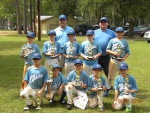 Beaufort Waves boys baseball won the Walterboro Top Gun tournament September 6 and 7. The age group is U11 and the players are: Front row: Jimmy Davenport, Harley Ward, Davis Woods, Riley DeRay, Will Roberts. Middle row: Hunter Rast, Connor Aivaz, Quade Matthews, Riley Thomson, Graham Ruff. Back row: Coach Harley Ruff and Coach Troy Davenport.