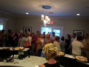 The crowd at Pinnacle's one year anniversary party.