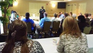 Jonas Gadson, DTM, with Partners for a Purposeful Living, shared tips on how to prepare and deliver a more effective speech during a Beaufort Networking event that took place on Thursday, Oct. 2 at the Beaufort Hilton Garden Inn.