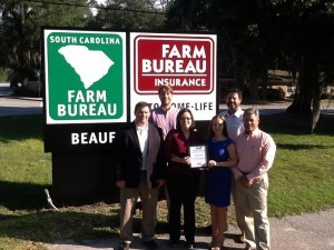 Each week, the Beaufort Regional Chamber of Commerce chooses a chamber business to honor. Thank you to Sonic of Beaufort for sponsoring and providing free lunch for the crew. Pictured is the Business of this Week, Beaufort County Farm Bureau insurance agency.