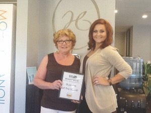 Each week, the Beaufort Regional Chamber of Commerce chooses a chamber business to honor. Thank you to Sonic of Beaufort for sponsoring and providing free lunch for the staff. Pictured is the Business of this Week, Halo Salon and Spa.