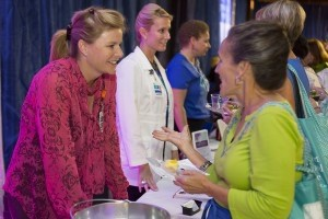 Beaufort Memorial gynecologist Patricia Thompson, MD, and breast nurse navigator Amy Hane discuss breast health with guests at last year's Girls' Night Out.