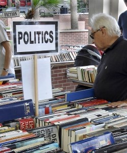 Hundreds of people converged at Henry C. Chambers Waterfront Park to take advantage of thousands of used books available last weekend during the Friends of the Library's annual fall book sale. Even the weather stayed away long enough for avid readers to get great deals on everything from history to politics and children's books. By Bob Sofaly.