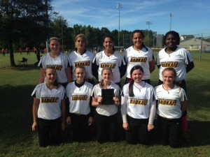 The 14U Badkatz girls softball team placed fourth in the WFC National Breast Cancer Swing for a Cure in Summerville, SC, from Oct. 17-19. Congrats to Alisa Depew and  Journeigh Doray for hitting their first out of the park home runs, and congrats to Cheyenne Strong for hitting her fourth out of the park home run.