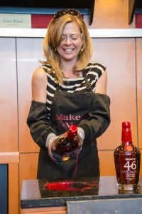Wendy is seen dipping her own Maker's Mark bottle at the distillery in Loretto, Kentucky, during her book tour.