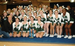 The Beaufort Cheer Team poses in October after winning first place in the Patriot Classic Competition.