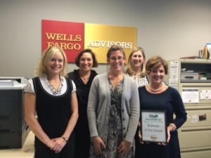 Each week, the Beaufort Regional Chamber of Commerce chooses a chamber business to honor. Thank you to Sonic of Beaufort for sponsoring and providing free lunch for the staff. Pictured is the Business of this Week, Wells Fargo Advisors.