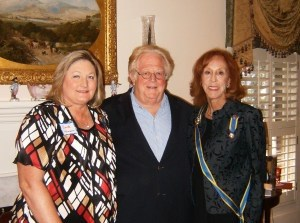 Mary Duvall, South Carolina State President of the Colonial Dames XVII Century, recently attended Beaufort's Dr. Henry Woodward Chapter's October meeting at the home of Doadie Parker. During the meeting, Mayor Billy Keyserling presented the chapter with a proclamation proclaiming October as Colonial Heritage Month. From left: Chapter President Anita Henson, Billy Keyserling and Mary Duvall. Photo by Debbie Parker.