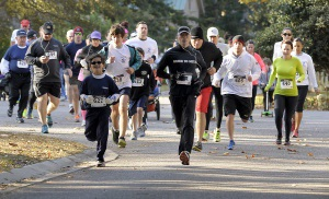 Runners and walkers helped to raise money during the fourth annual Island Charities 5K Run last Saturday at Cat Island.