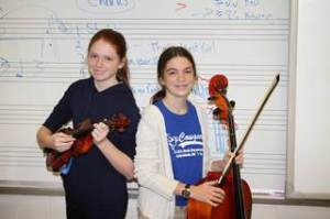 Taylor and Sydney Maddox, twin sisters from Lady's Island Middle, were the only two middle school students in Beaufort County to be chosen for Region 4 Orchestra.  This is Sydney's first year going to regional, where she will be playing second violin.  This is Taylor's second year making regional where she will be playing viola.  At the regional level, they will each be competing for a seat with the State Orchestra group.