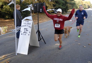Holly Zapp of Cat Island was the top women's finisher with a time of 23:12.