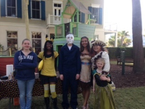 Battery Creek High School's SADD Club members assisted with Habersham's Halloween Carnival at Harvest Festival on October 25.  Students, from left: Shelby Scoggins, Dominique Allen, Hunter Hise, Kiarra Hall and Victoria Kellerman.