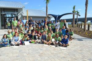 Riverview Charter School fifth graders took a field trip to the Port Royal Sound Foundation Maritime Center last week. Students had hands-on learning experiences with local marine life including dolphins, sharks and egrets.  They took a trip out into the sound to measure salinity, turbidity and temperature of the Chechessee River.