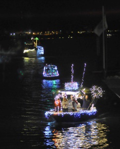 The 2013 Light Up the Night Boat Parade in the Beaufort River. Photo by Bob Sofaly.