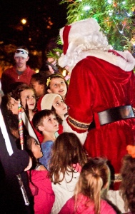 Santa visits children at last year's Night on the Town. Photo by Captured Moments Photography.