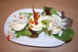 Next, we shared The Deviled Egg Trio, featuring classic deviled eggs ...