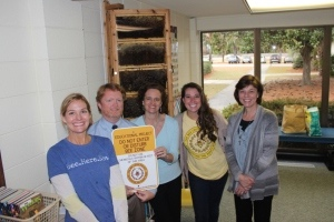 From left: Tami Enright (Bee Cause), BA Headmaster Stephen Schools, Emma Roddey, Jules Rabaler (Bee Cause), and Gina Reilly.