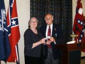 President of the Palmetto Soldiers Relief Society, Louise Murray, pictured with Jody Henson.