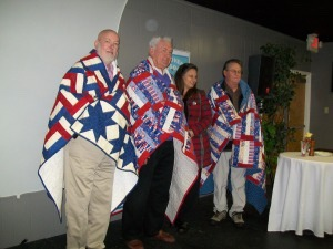 Quilters make blankets for veterans