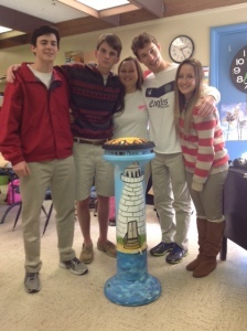 Pictured left to right: Charles Aimar, Jacob Dalton, Weezie Gallant, Mac Griffith, Carol Nogueira.