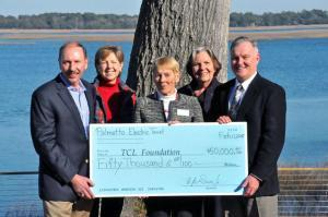 Pictured from left to right are Berl Davis, Palmetto Electric Cooperative President and CEO; Mary Lee Carns, TCL Executive Director of Institutional Advancement; Dr. Vicki Leitz, TCL Foundation Chair; Joan Heyward, TCL Commissioner; and Dr. Richard Gough, TCL President.