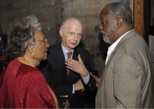 Newest members of the Penn Center 1862 Circle (left to right): Etta Mann, Dick Riley and Roland Gardner at the Friday reception.