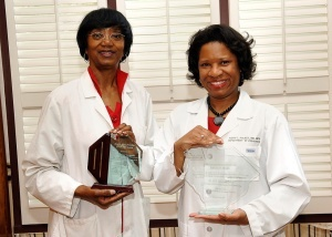 From left to right: M. LaFrance Ferguson, MD and Faith Lawrence Polkey, MD. Photo by Bob Sofaly.