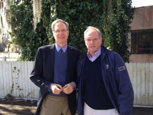 George Stevens, President/CEO of Coastal Community Foundation (left) with Jim Marks (right)