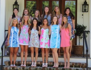 Pictured left to right, front row: Andrea Harry, Natalie Simkins, Julianna Dunphy, Emma Everidge, Taylor Vincent, Somers Cherry. Back row: Katie Gay, Tucker Langehans, Bryanna, Ferry, Bridget Baggerly, Casey Kahn, McKenzie Blake. (Not pictured: Molly Harrop.)
