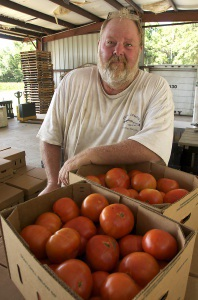 Davey Dempsey is the third generation to own and farm Dempsey Farm on St. Helena Island.