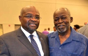 Rev. Kenneth F. Hodges (left) and his Campaign Chairperson, Rev. McKinley Washington, stood together after the August 19 debate.