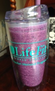 My first Blueberry Smoothie