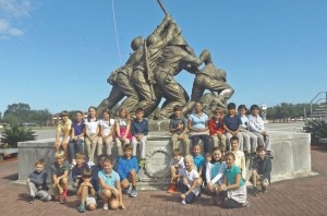 Beaufort Academy students in grades 4 and 5 visited the Parris Island Museum on October 20th during the 100th Anniversary of Parris Island. The students were accompanied by knowledgeable veterans, Mr. Michael Ryan and Mr. John Bekemeyer.