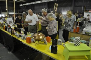 A silent auction and raffles were both big parts of the fundraiser.