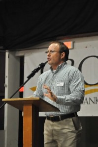 Chet Houston, LowCountry Habitat For Humanity Executive Director, speaks at the 25th anniversary celebration.