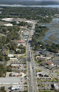 Above is an aerial view of the area to be improved.
