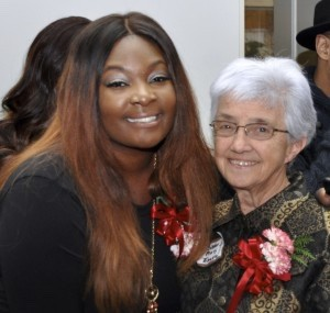 Candice Glover and Sister Mary Trzasko